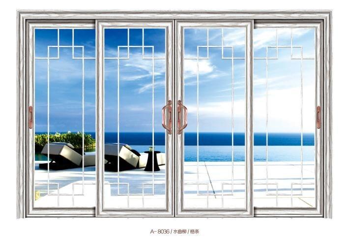 foshan modern house aluminum sliding door with hollow tempered glass