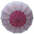 Auto Open Red DOT Printing Straight Umbrella (JYSU-17)