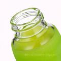 Стекло бутылка для воды с герметичной крышкой и Силиконовой рукав