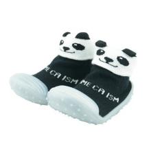 Tout-petit bébé personnalisé 3d animal chaussure en caoutchouc soie en caoutchouc chaussettes