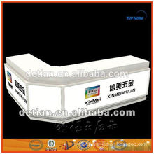 Cheap trade show table reception desk from shanghai,China