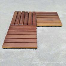 Hohe Nachfrage Produkte China Lieferant Outdoor Massivholz Teak Terrassendielen mit Kunststoff Basis