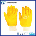 Cotton Interlock Shell Bulk Fully Nitrile Coated Gloves With Yellow Colors