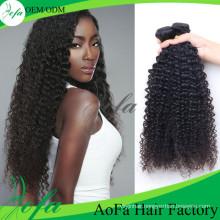 7A Grade Virgin Brazilian Human Hair/ Kinky Curly Human Hair Extension