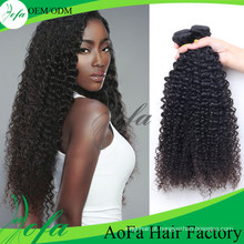 Cabelo humano brasileiro do Virgin da categoria 7A / extensão encaracolado perverso do cabelo humano