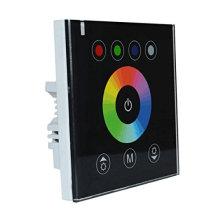 DC12V-24V mural panneau tactile commutateur couleur RGB RGBW contrôleur pour LED Light Strip, noir