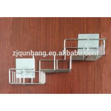 Edelstahl-Badezimmer-Regal mit Sauger-Metall-Badezimmer-Zahnstange