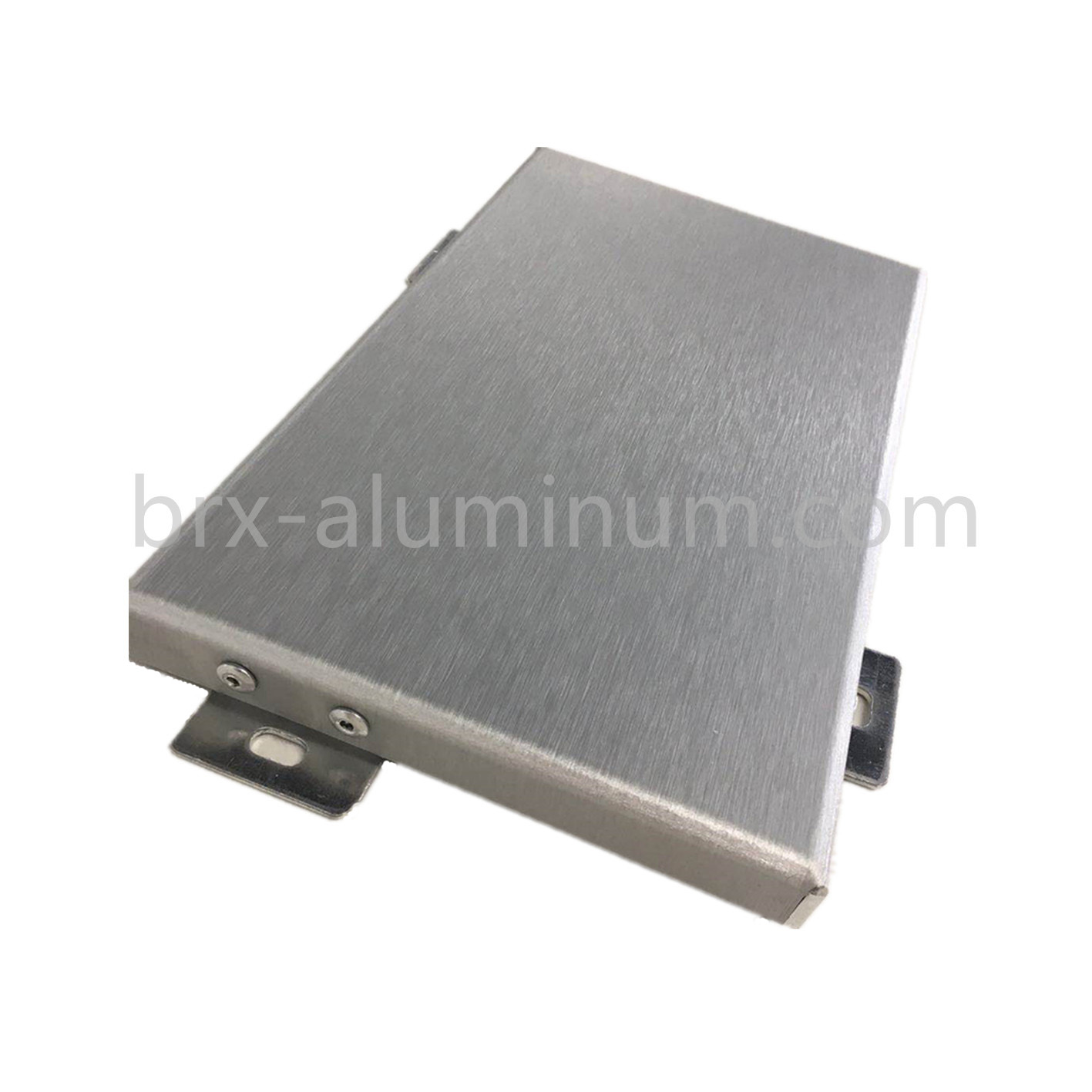 Brushed aluminum plate