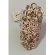 Dentelle rose anneau creux en métal
