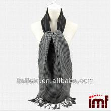 Newest Design Woven Reversible Black Wool Scarves Men