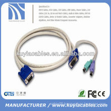 PS/2 KVM VGA MALE TO MALE CABLE