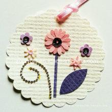 Impressão Hanging Tag Decorativo / Artesanal Impresso Flor DIY Paper Craft