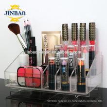Exhibición de acrílico de encargo de la joyería de Jinbao Clear Storage Organizer Case