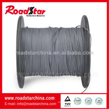 1mm width grey color High visibility reflective thread (double sided reflective)