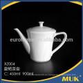 Eurohome promoción de ventas hotel banque uso línea blanca porcelana cerámica tetera