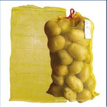 Tubular mesh drawstring bag for onion potato orange drawstring mesh bag