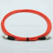 SC LC ST FC PC / UPC mm multimode 62.5 / 125 cordon de raccordement optique à fibre optique / jumper
