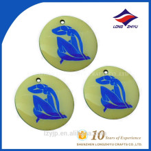 Round plastic souvenir decoration beautiful logo dog tag