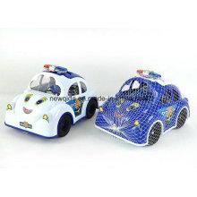 New Police Car Cartoon Block Toy for Preschool Children