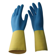 NMSAFETY industrial blue and yellow neoprene and latex gloves for work
