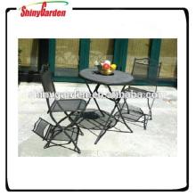 Anti-Rost Mesh Stahl Garten Bistro Set Stahlgitter Tisch und Stuhl Möbel