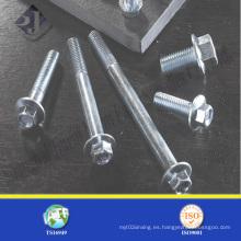 Perno de brida hexagonal de acero al carbono medio
