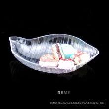 Plato de plástico plato desechable concha en forma de plato
