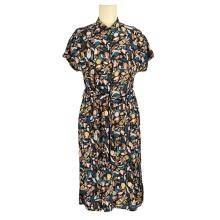 Custom fashion trendy luxury clothing dress designer summer chiffon ruched long dress for women