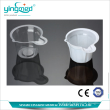 Copo de urina transparente descartável