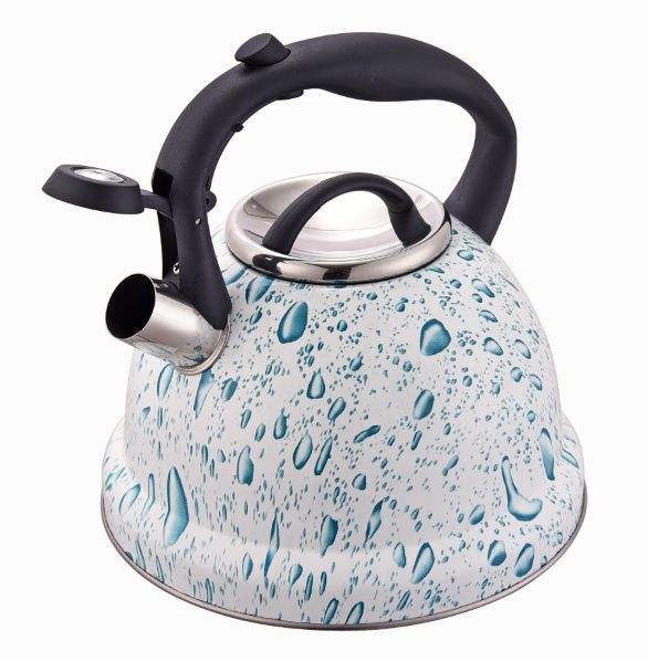 Fh 554 White Blue Big Coffee Kettle For Pour Over