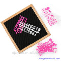 """12"""" x 18"""" Large Changeable Letter Board with Wood Frame and 290 Letters 12"""" x 18"""" Large Changeable Letter Board with Wood Frame and 290 Letters"""