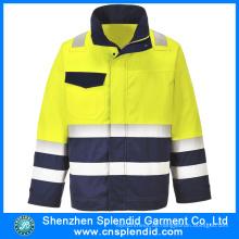 Kundenspezifische Logo-Sicherheits-Arbeitsuniform Jacken-Bau-Kleidung