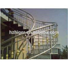 escadas de corrimão de alumínio