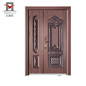 Alibaba nuevo tipo puertas interiores último diseño villa cobre puerta