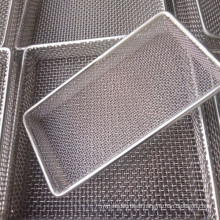 Heat Resistant 310s Stainless Steel / Inconel Wire Mesh Basket For Burn Industry