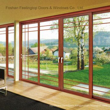 Commercial Double Glazed Aluminium Sliding Door (FT-D80)