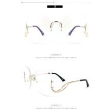 Rimless Oversize glasses Fashion oversized Women Sunglasses in pink tint beautiful rimless oversize glasses