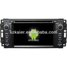 Lecteur DVD de voiture système Android pour Dodge avec GPS, Bluetooth, 3G, ipod, jeux, double zone, commande au volant