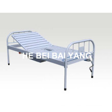 (A-191) All Plastic-Sprayed Single Function Manual Hospital Bed with Chamber Pot