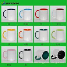 Directly Factory Sunmeta Hot Selling High Quality Ceramic Sublimaiton Color Inside Printing Mugs 11oz