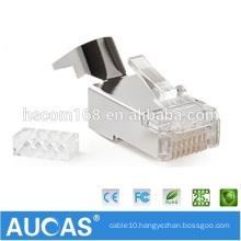 Aucas Factory Offer Cat 7 Connector RJ45 Modular Plug 8P8C FTP Cat7 RJ45 Plug for Stranded Network Cable