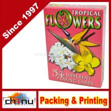 Tropische Blumen Spielkarten - Deck mit 54 Karten (430196)
