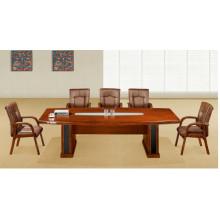 Mesa de conferencia antigua de la chapa de madera sólida de la nuez pequeña
