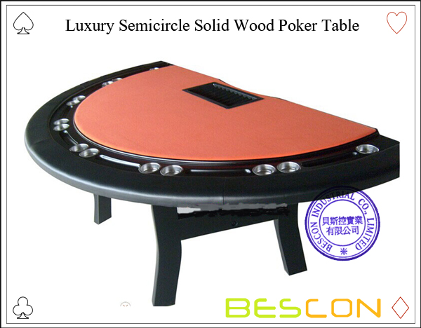 Luxury Semicircle Solid Wood Poker Table