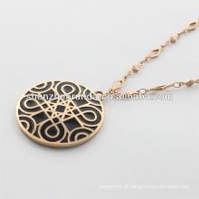 Fornecedor do alibaba, colar 2014 do ouro da forma com figura clássica para homens