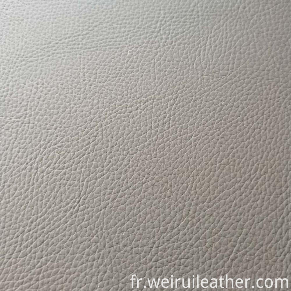 0 75mm Litchi Grain Pvc Leather