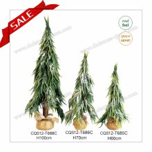 H1.5-2FT PE + PVC Artificial Mini Snowing Christmas Tree Christmas Gift