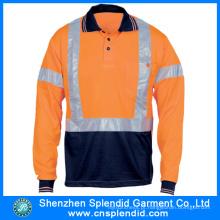 Shenzhen trabalhando vestuário de manga longa segurança refletora uniforme de trabalho