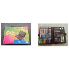 120 unids conjunto de arte para los niños que viven la cena de arte conjunto para el dibujo de pintura conjunto de lápices de colores de color de agua
