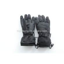 Guantes de esquí de nylon negro taslon con forro thinsulate
